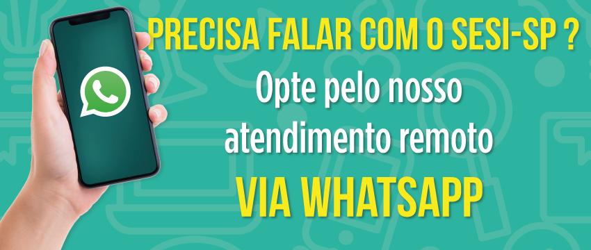 WhatsApp SESI-SP: estaremos ainda mais próximos de você!