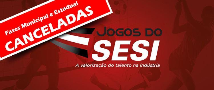 Jogos do SESI 2020 cancelado