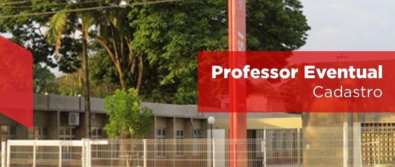 Cadastro professor eventual