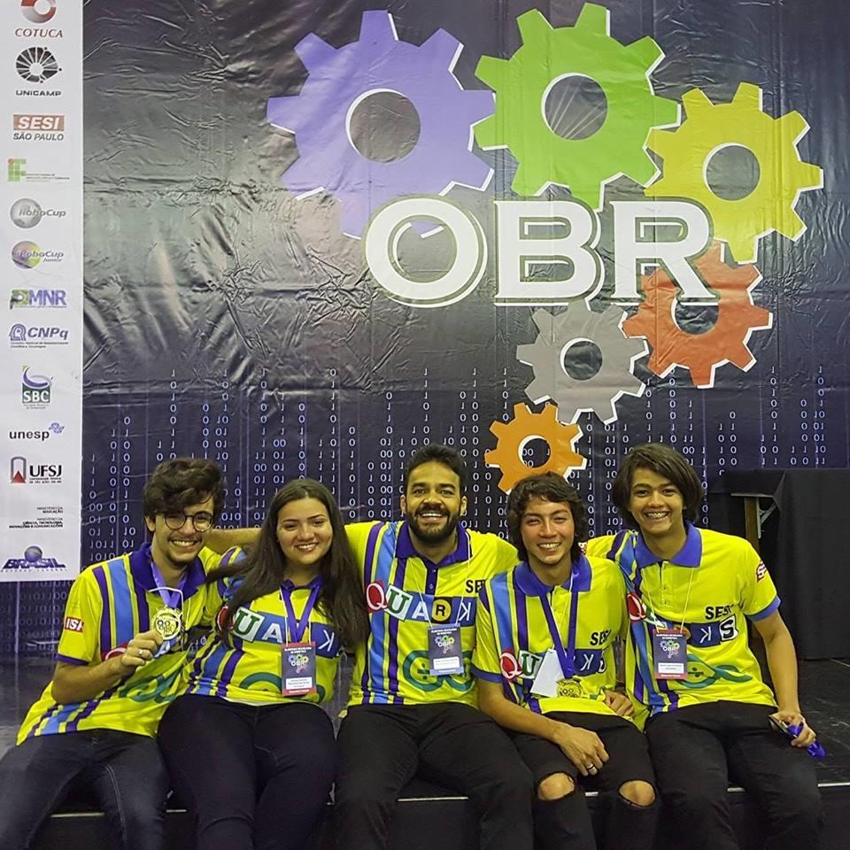 Equipe SESI Quarks, de Araçatuba, é campeã estadual da Olimpíada Brasileira de Robótica