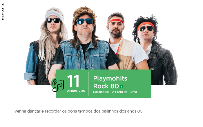 SESI Araçatuba recebe a banda Playmohits na próxima quinta, dia 11 de abril