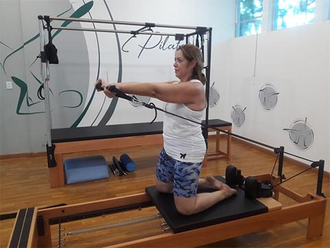 Magali Teixeira comprovou na prática os benefícios do pilates
