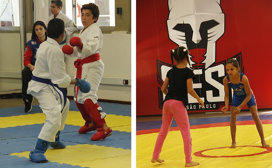 Mais de 130 atletas do Karatê e Luta Olímpica participaram da Liga SESI-SP de Treinamento Esportivo