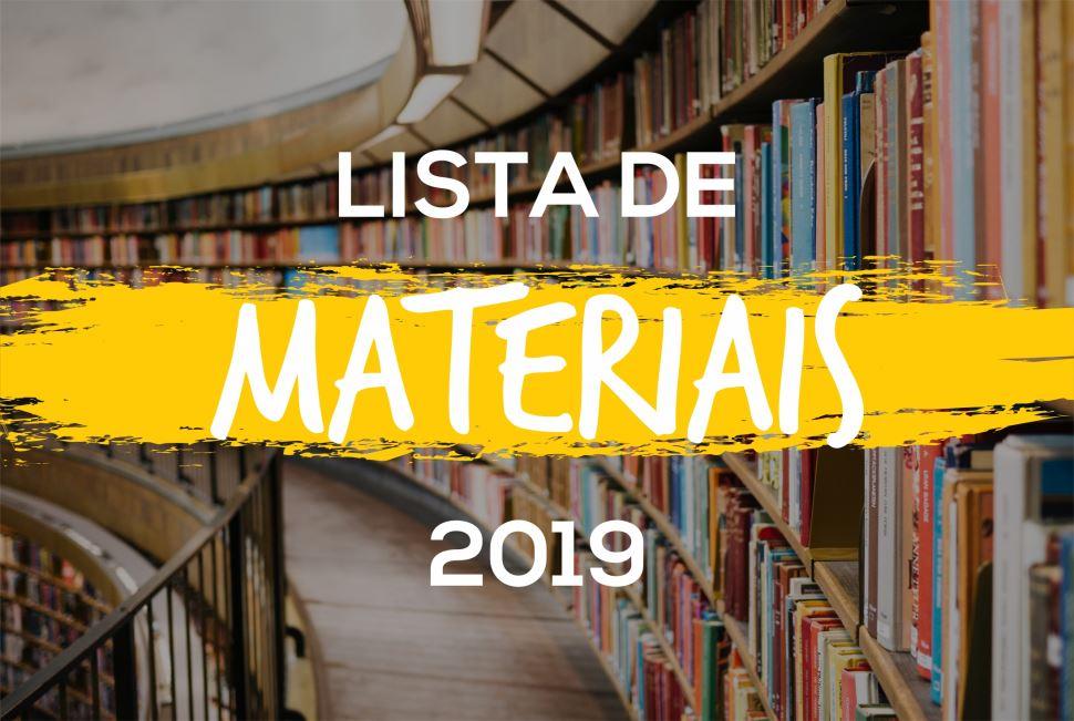 Lista de Material Escolar 2019 - Centro Educacional SESI nº 296