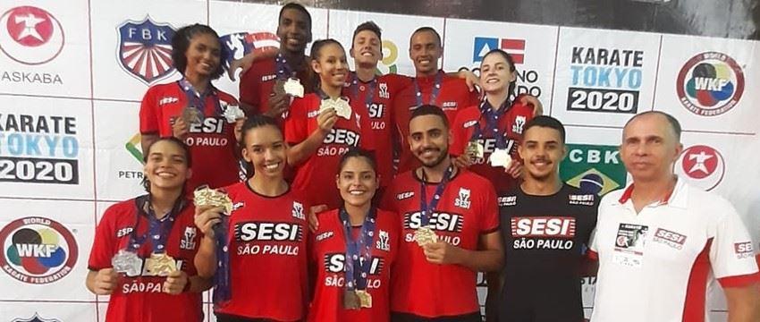 Equipe de Karate SESI-SP brilha em Salvador -BA