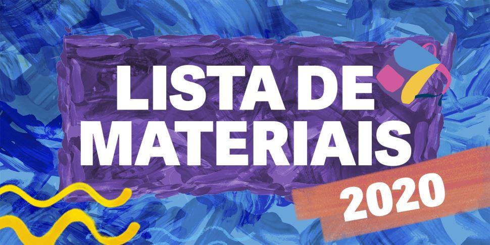 Lista de material 2020