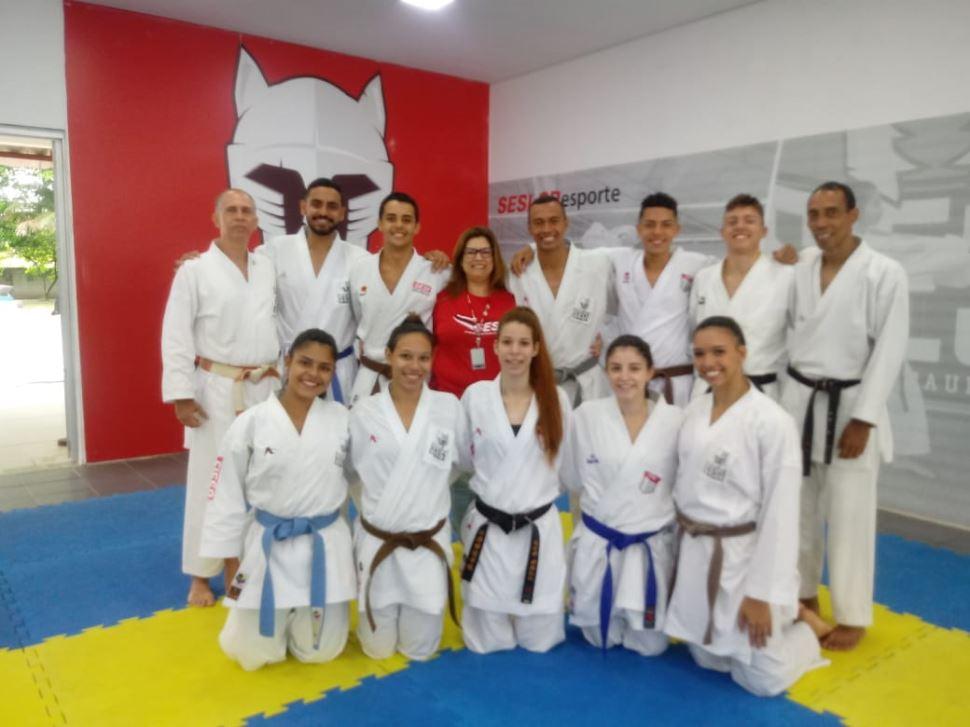 Equipe de Karate do SESI-SP busca vaga para Tokyo 2020