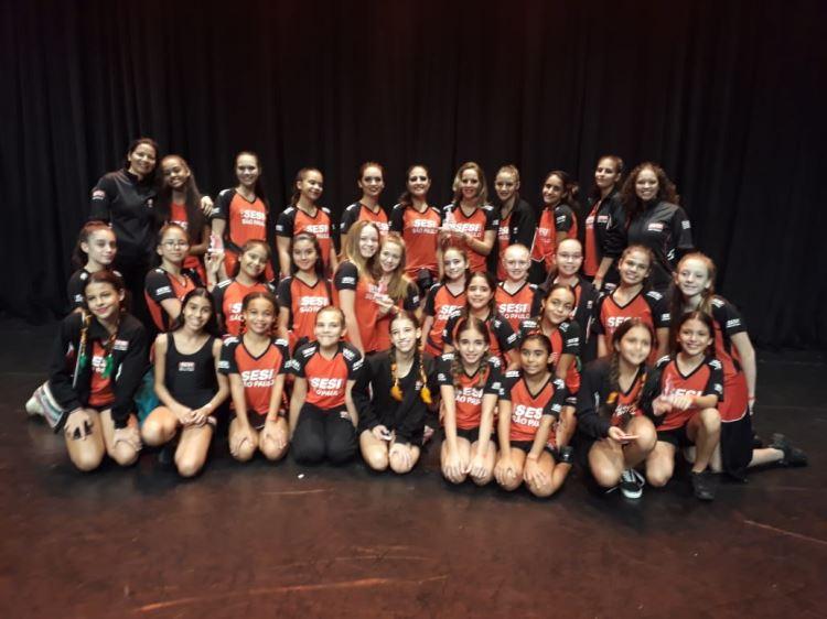 Todas Dançarinas do SESI Indaiatuba