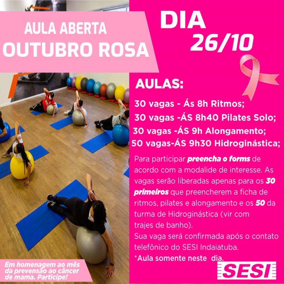 Aula aberta Outubro Rosa!