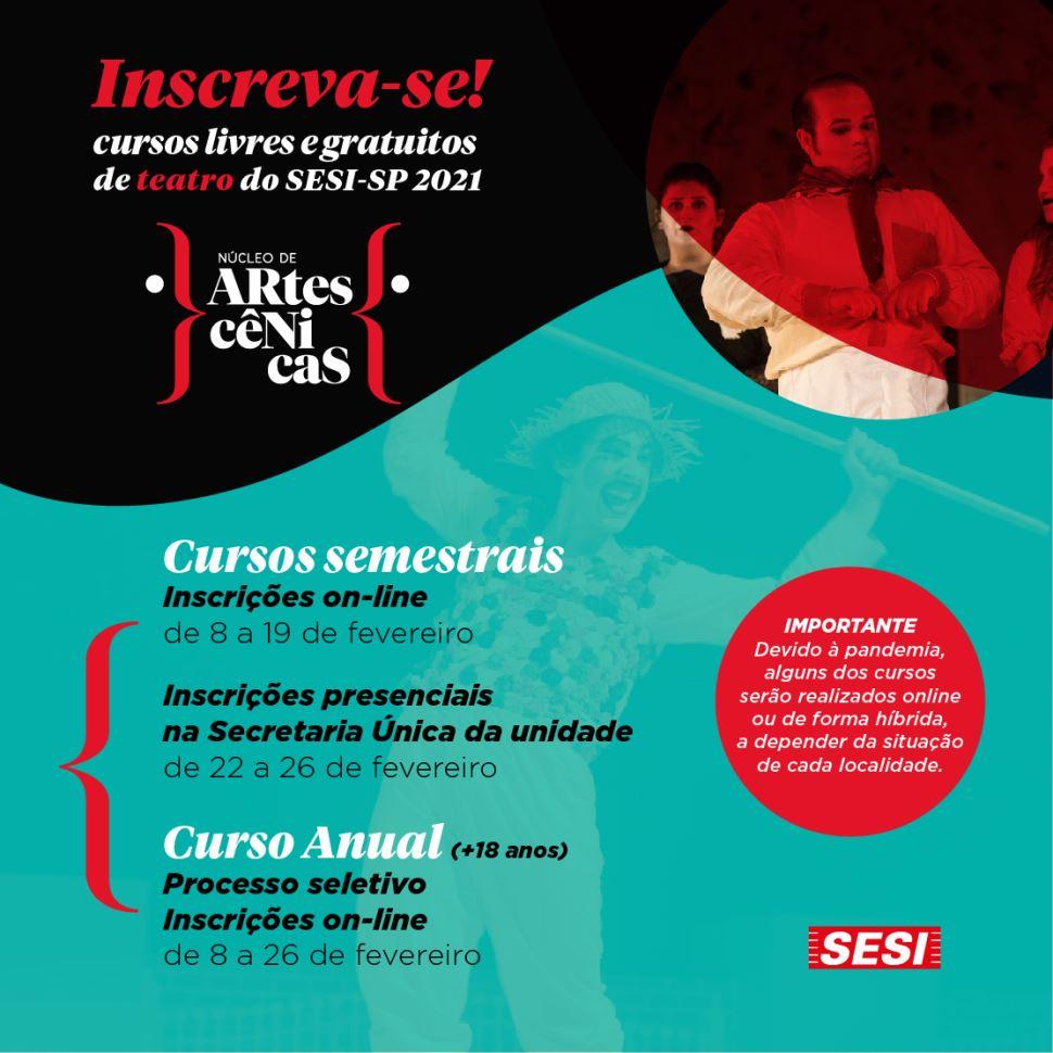 SESI Itapetininga oferece curso gratuito de teatro