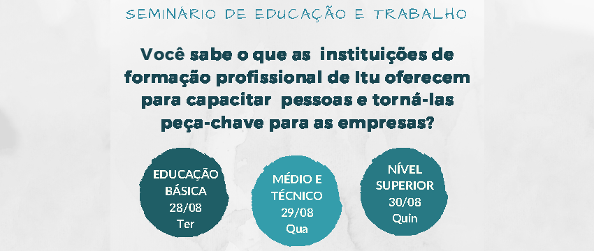 SESI-SP de Itu realiza seminário de educação e trabalho