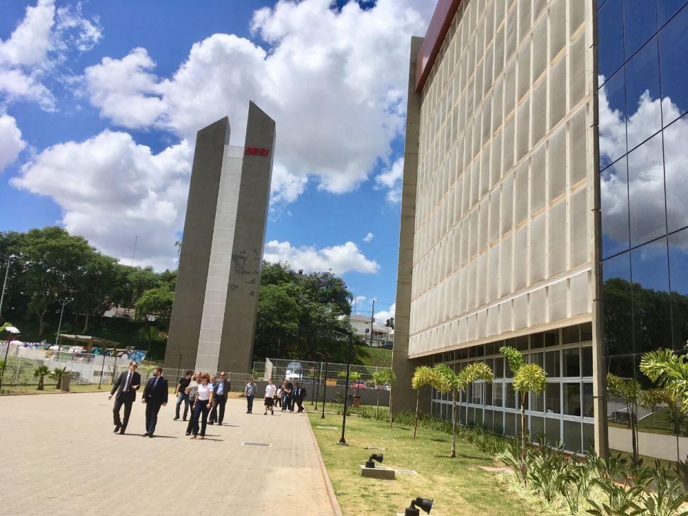 Visita no SESI Jundiaí do Superintendente Nacional do SESI - Rafael Lucchesi