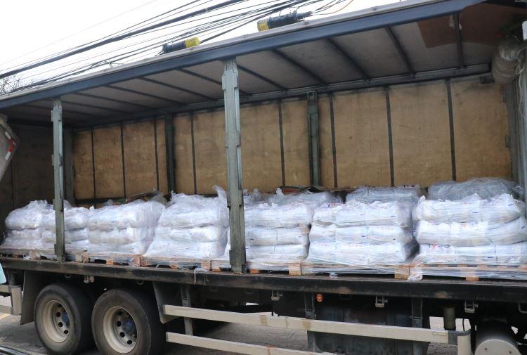 4,5 toneladas de cestas básica