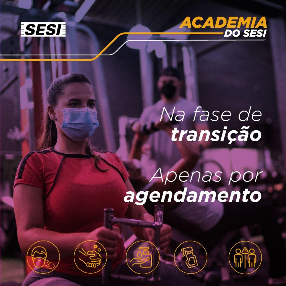 Na fase de transição, academia apenas por agendamento