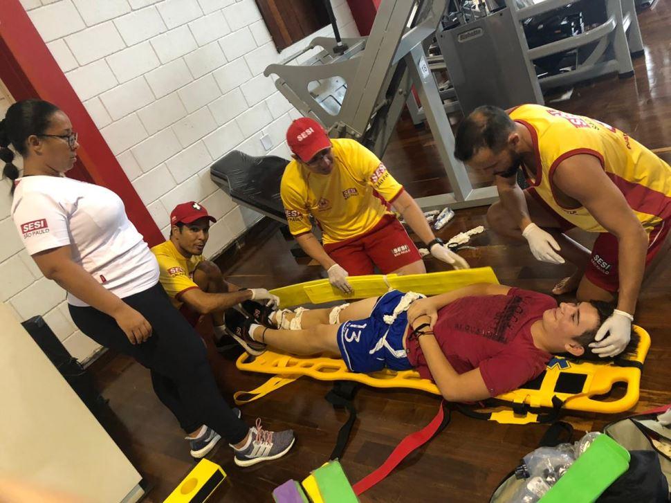 Simulação de acidentes reforça a importância dos cuidados na hora de praticar exercícios