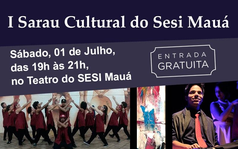 SESI Mauá apresenta ao público gratuitamente 1º Sarau Cultural