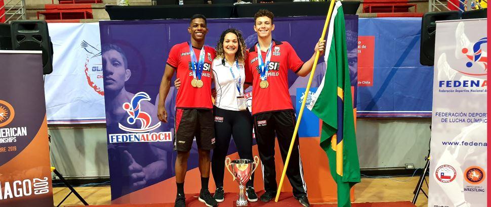 Atletas da Luta Olímpica do SESI-SP conquistam medalha no Campeonato Sul-Americano de Wrestling 2019
