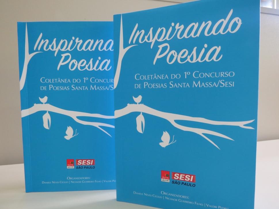 """Caixa de Cultura estimula lançamento do livro """"Inspirando Poesias"""" na empresa Santa Massa"""