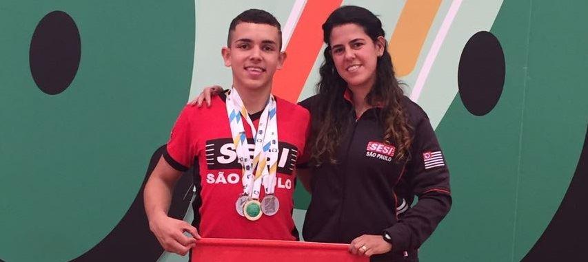 Rogério Júnior, atleta do SESI-SP, vai representar o Brasil em dois torneios internacionais de Parabadminton