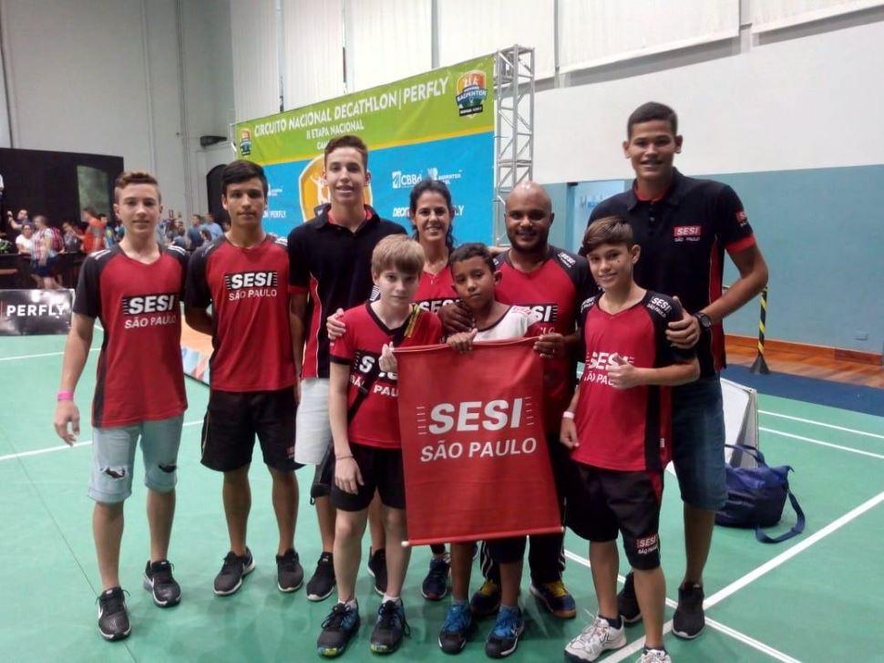 Equipe do SESI-SP encerra sua participação na 2ª Etapa do Circuito Nacional de Badminton com medalhas de prata e bronze