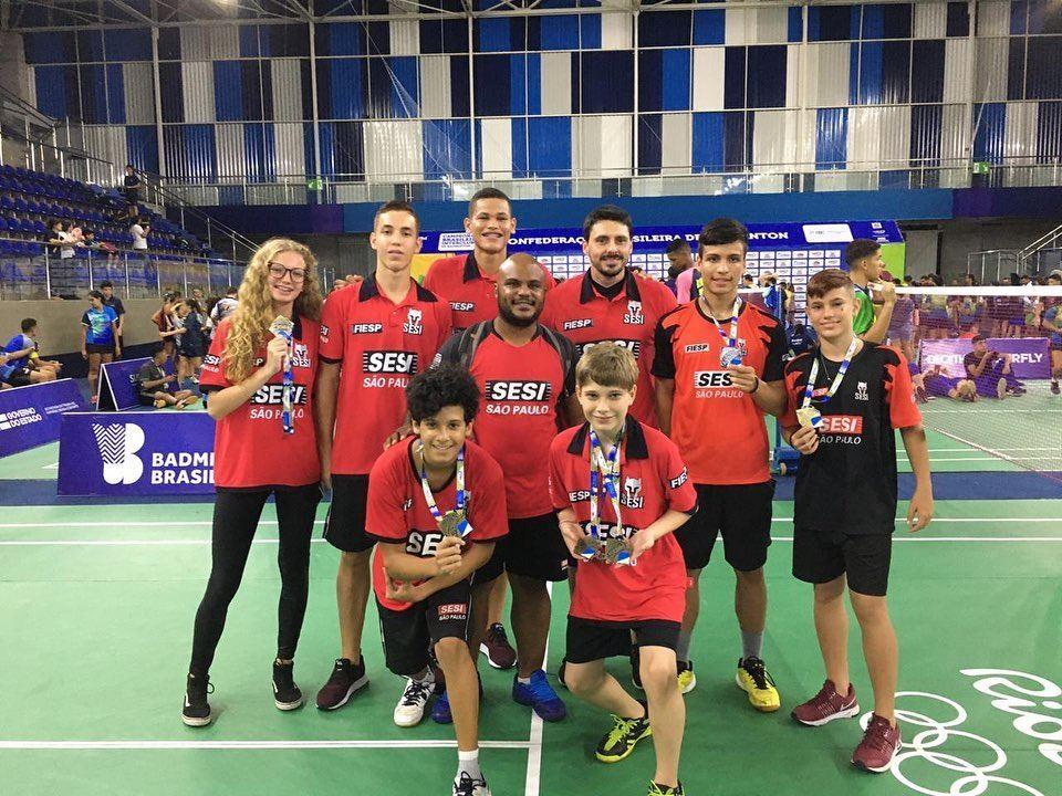 Badminton do Sesi-SP conquista seis medalhas durante a 1ª Etapa do Campeonato Brasileiro Interclubes 2020