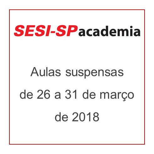 SESI-SP Academia - Aulas Suspensas