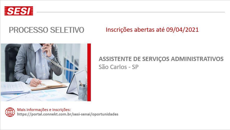 Vaga para Assistente de Serviços Administrativos