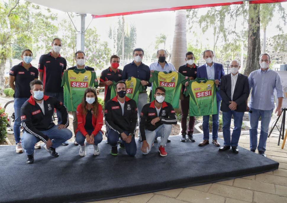 Em São Carlos, Paulo Skaf anuncia investimento em escola e se encontra com atletas do Sesi-SP que representarão o Brasil nas Olimpíadas de Tóquio