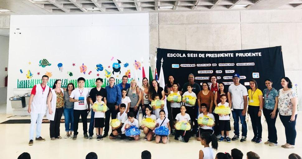 Escola SESI de Presidente Prudente é destaque durante premiação dos Movimentos Mobilizadores na Educação