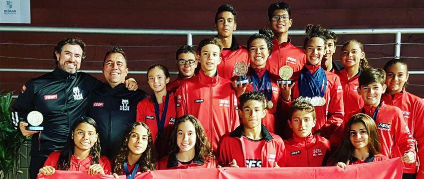 Natação do SESI-SP fica em 5º lugar no Troféu Ruben Dinard de Araújo