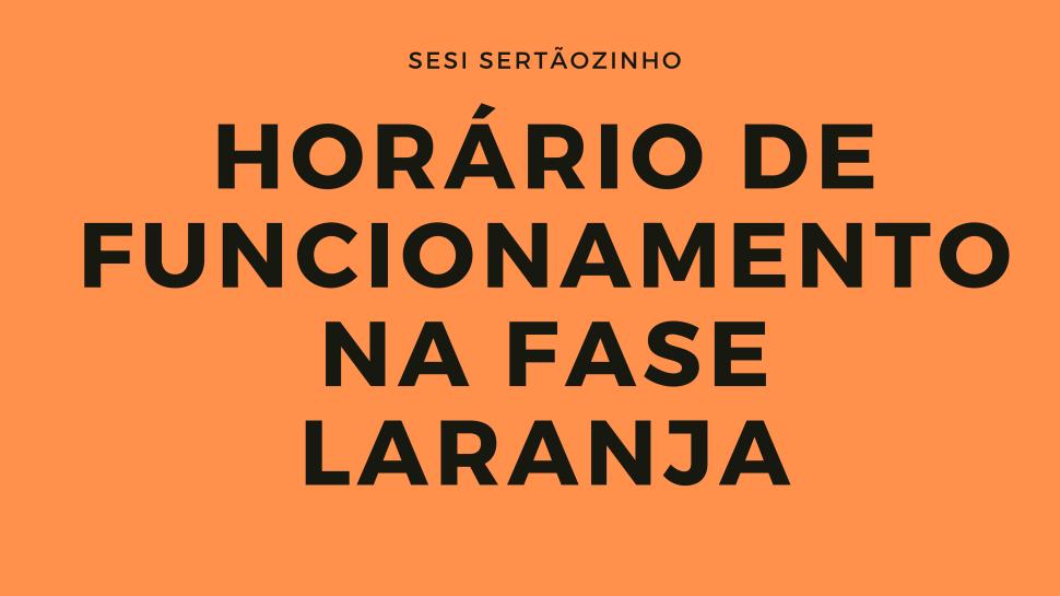 Confira o funcionamento do CAT SESI durante a fase laranja do Plano São Paulo