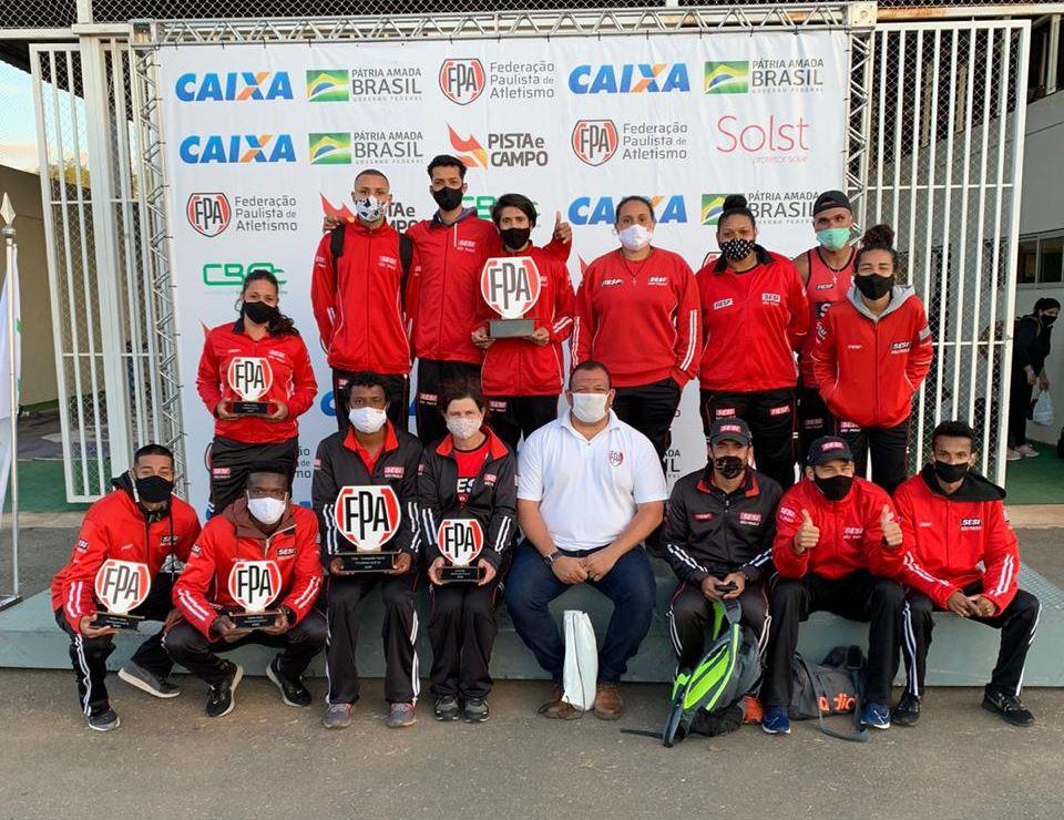 De volta às competições, equipe de atletismo do SESI-SP garante excelentes resultados no Campeonato Paulista Adulto e Sub-20