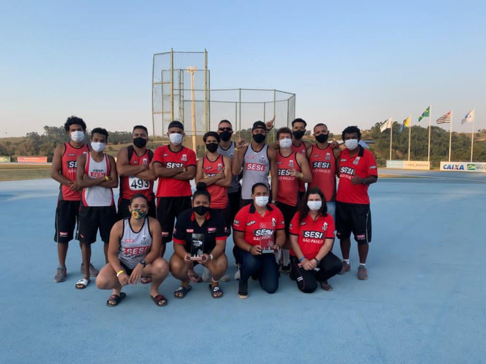 Equipe de atletismo do Sesi-SP ganha destaque no Campeonato Brasileiro Sub-20 e no Torneio Paulista