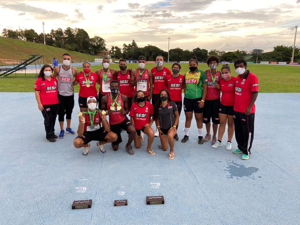 Último campeonato do ano celebra a excelente temporada da equipe de atletismo do SESI-SP
