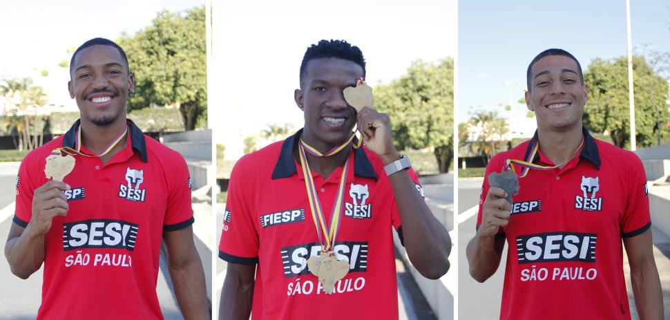 Representando o Brasil, velocistas do Sesi-SP conquistam 5 medalhas no Sul-Americano de Atletismo