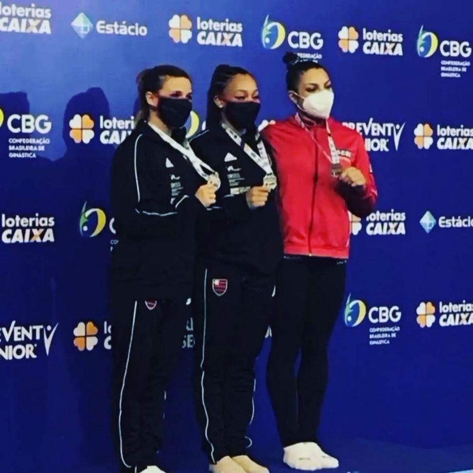 Ginasta Amanda Paulino conquista medalha de bronze no Campeonato Brasileiro Adulto
