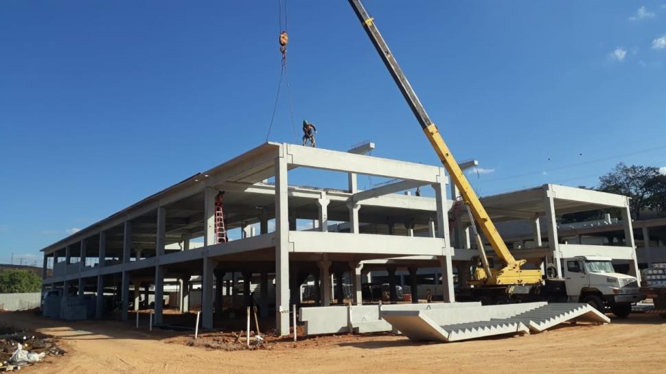 Obras da nova escola SESI-SP de Caçapava avançam.