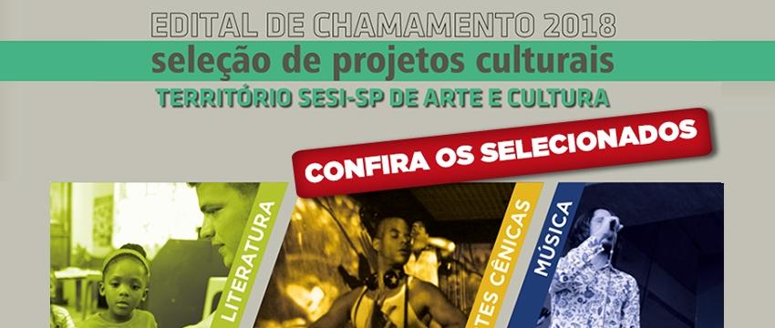 Confira os selecionados do edital Território SESI-SP de Arte e Cultura