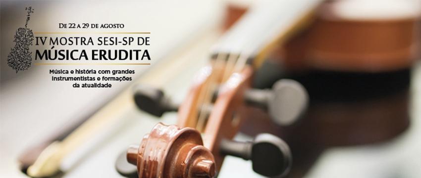 SESI de Birigui recebe a IV Mostra de Música Erudita