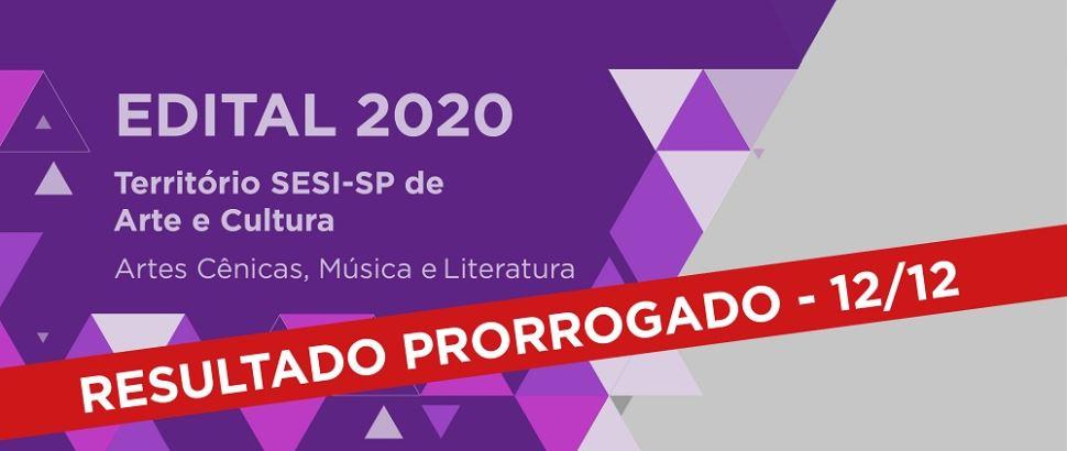 Prorrogada a data de divulgação dos habilitados no Edital Território SESI-SP de Arte e Cultura