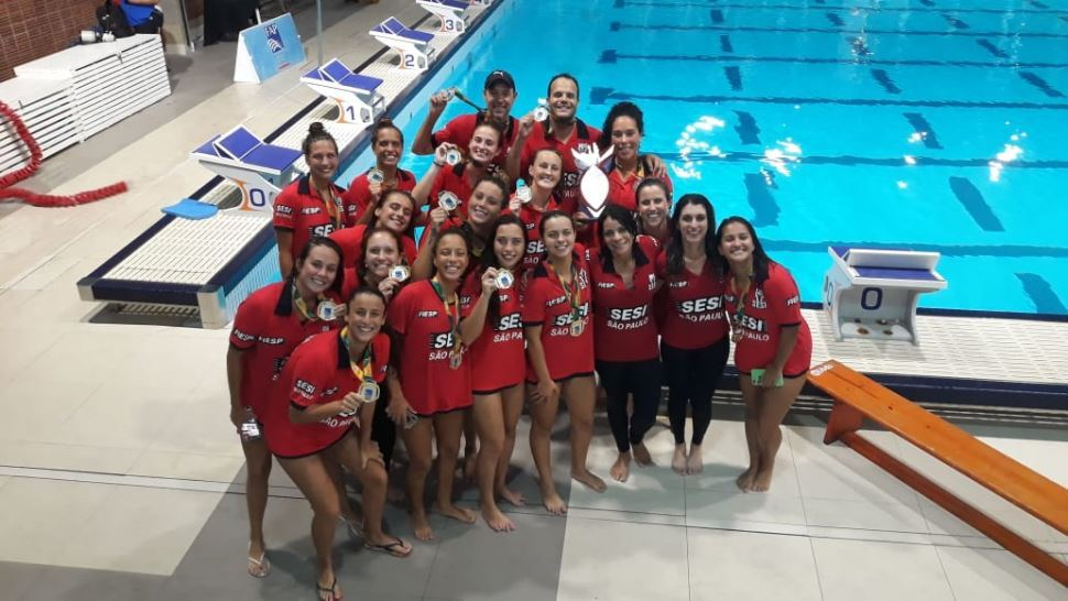 Polo aquático feminino do Sesi-SP: das categorias de base para o bicampeonato Paulista adulto