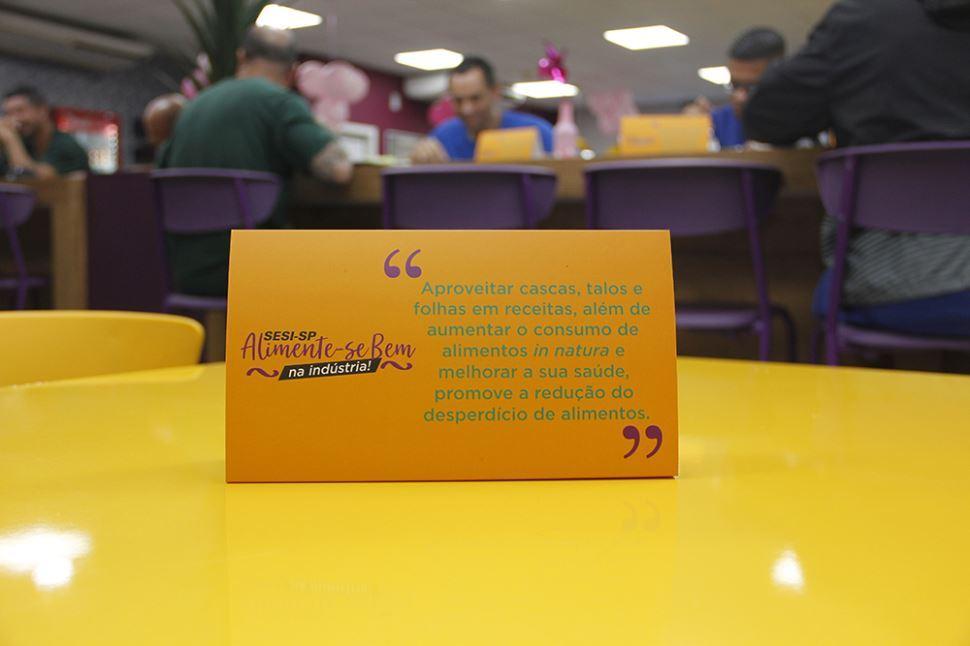 Campanha Alimente-se Bem na Indústria, do Sesi-SP, conscientizou mais de 13 mil trabalhadores contra o desperdício de alimentos