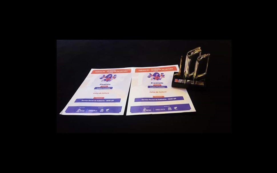 Caixa de Cultura do Sesi-SP ganha prêmio IPL - Retratos da Leitura