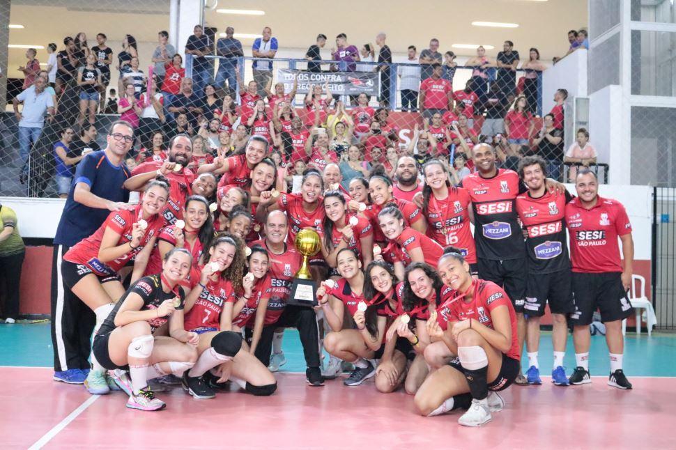 Sesi Vôlei Bauru se sagra campeão paulista Sub-17