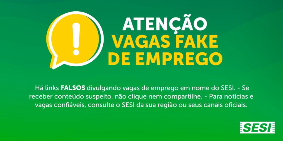 Fake: sites falsos estão divulgando vagas de emprego no Sesi e no Senai