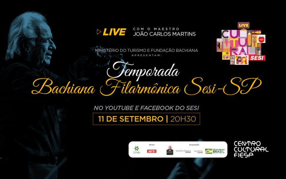 Bachiana Filarmônica Sesi-SP realiza live nesta sexta (11/9) com clássicos de Beethoven a Piazzolla