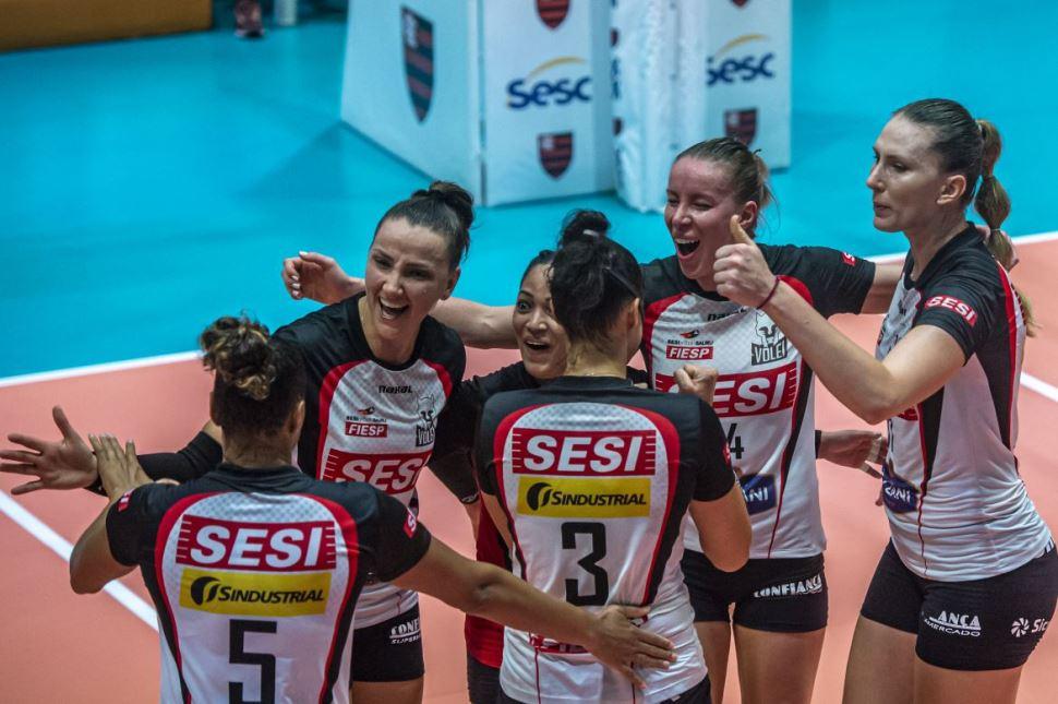 Sesi Vôlei Bauru vence o Sesc/Flamengo e está na semifinal da Copa Brasil