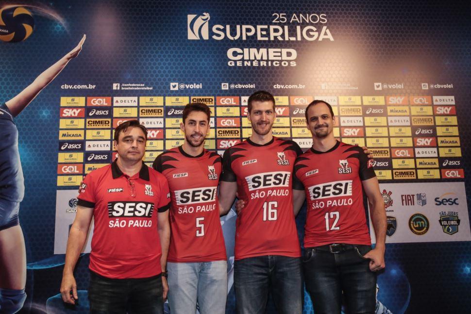 SESI - Portal - Sesi-SP participa do lançamento da 25ª edição da Superliga  masculina de vôlei 4daa2ca566126