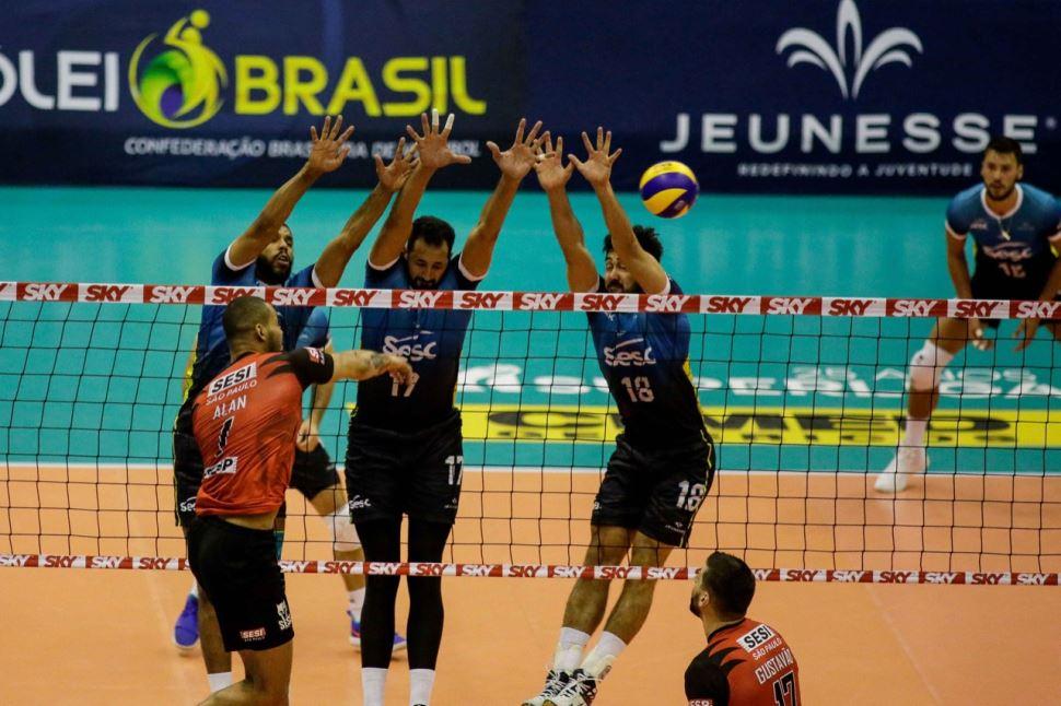 Sesi-SP perde do Sesc-RJ em jogo equlibrado na nona rodada da Superliga Cimed masculina