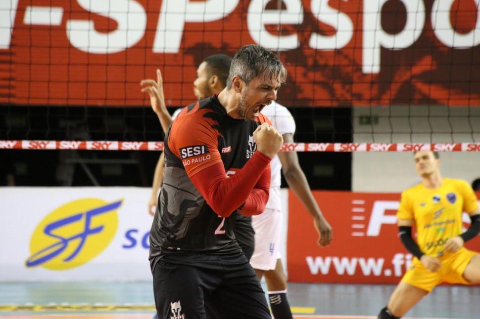 Sesi-SP vence Vôlei Ribeirão no returno da Superliga Cimed masculina
